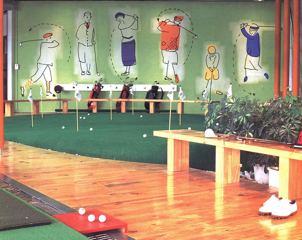 golf mural