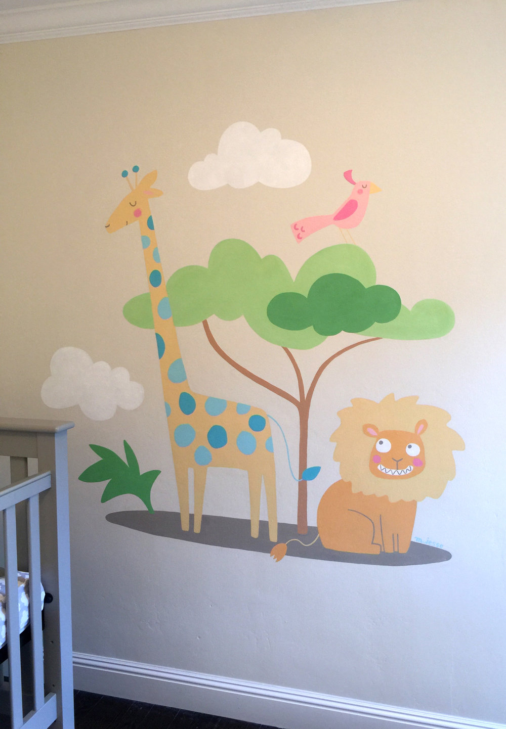 jungle nursery mural