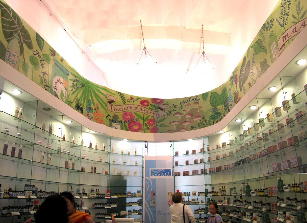 store mural in India