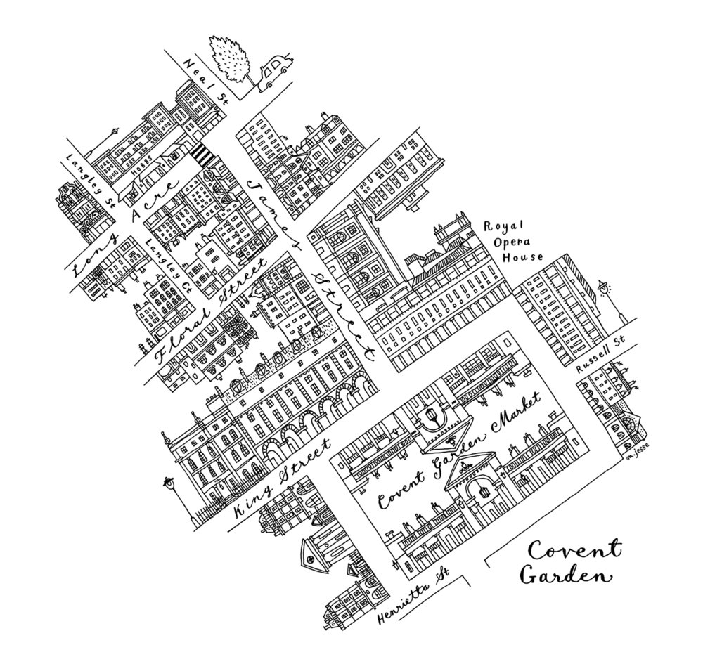 Covent Garden map