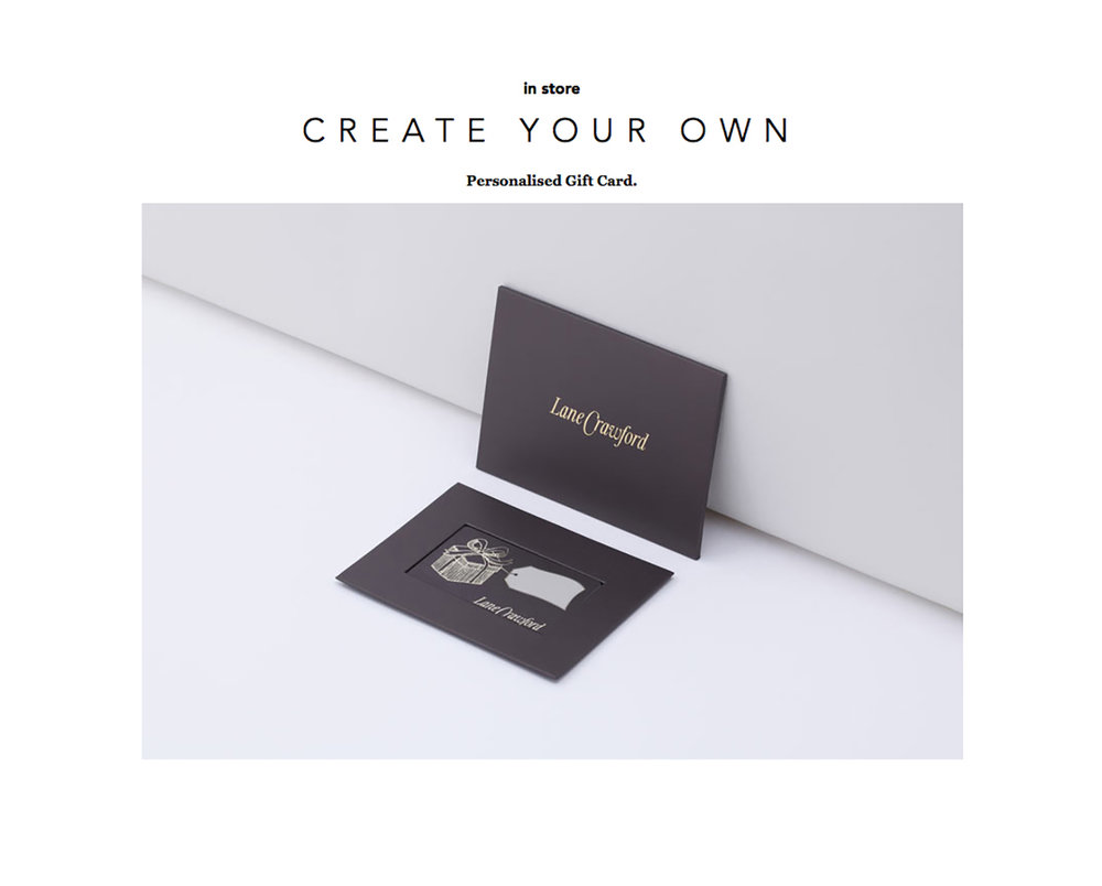 Lane Crawford gift card
