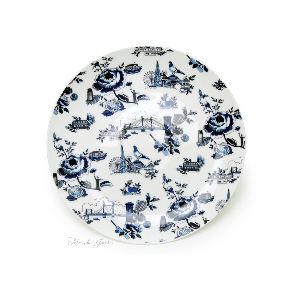 London toile saucer