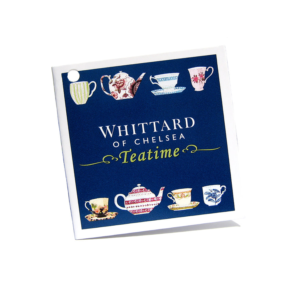 label for summer  Teatime  ceramic collection for  Whittard of Chelsea , UK