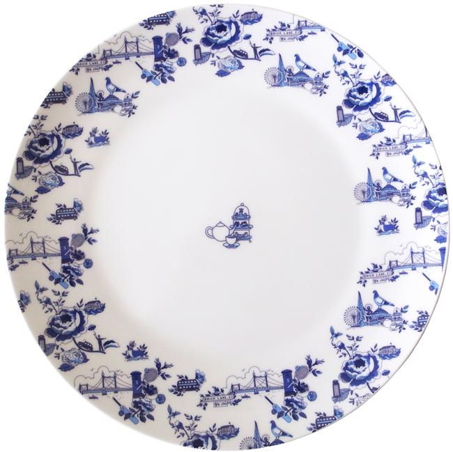 Theyu0027re ...  sc 1 st  Mariko Jesse & London toile dinner plates u2014 Mariko Jesse illustration