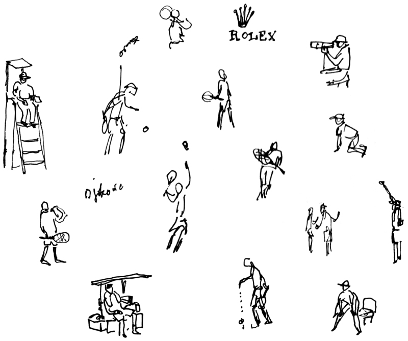tennis sketches