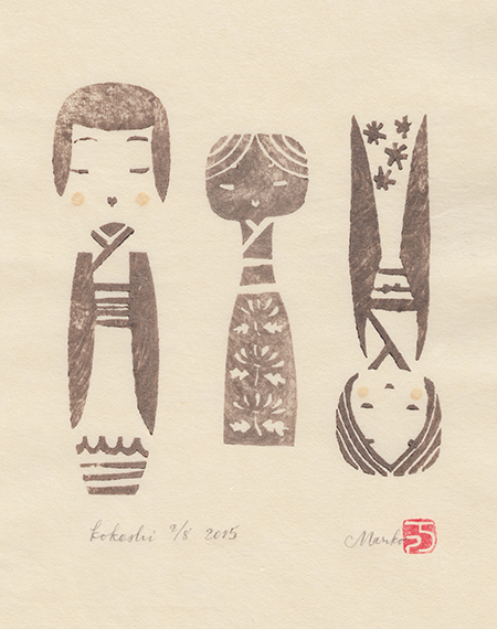 kokeshi 2 c;eaned