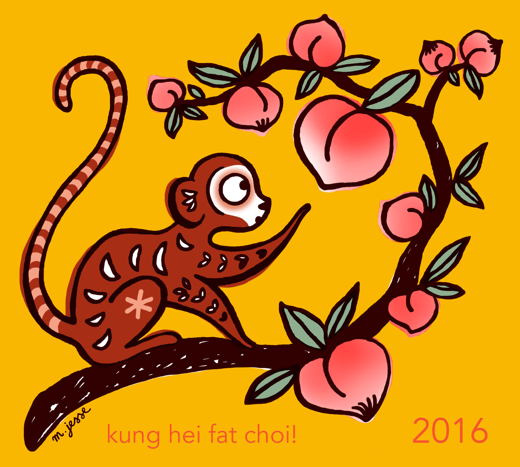 CNY monkey colour 2