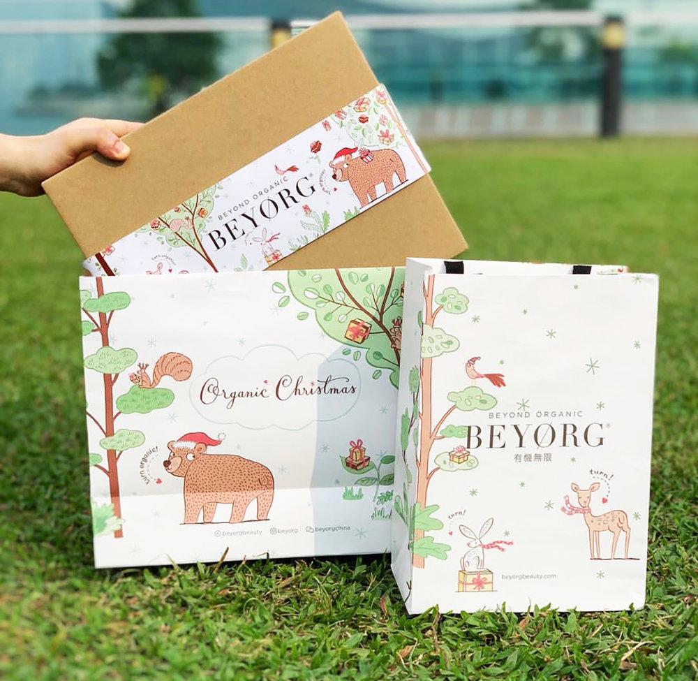 BEYORG Christmas campaign packaging