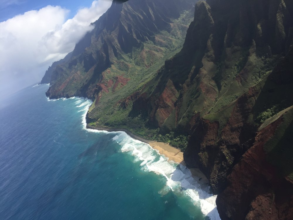 A Na Pali Coast shot from my window.