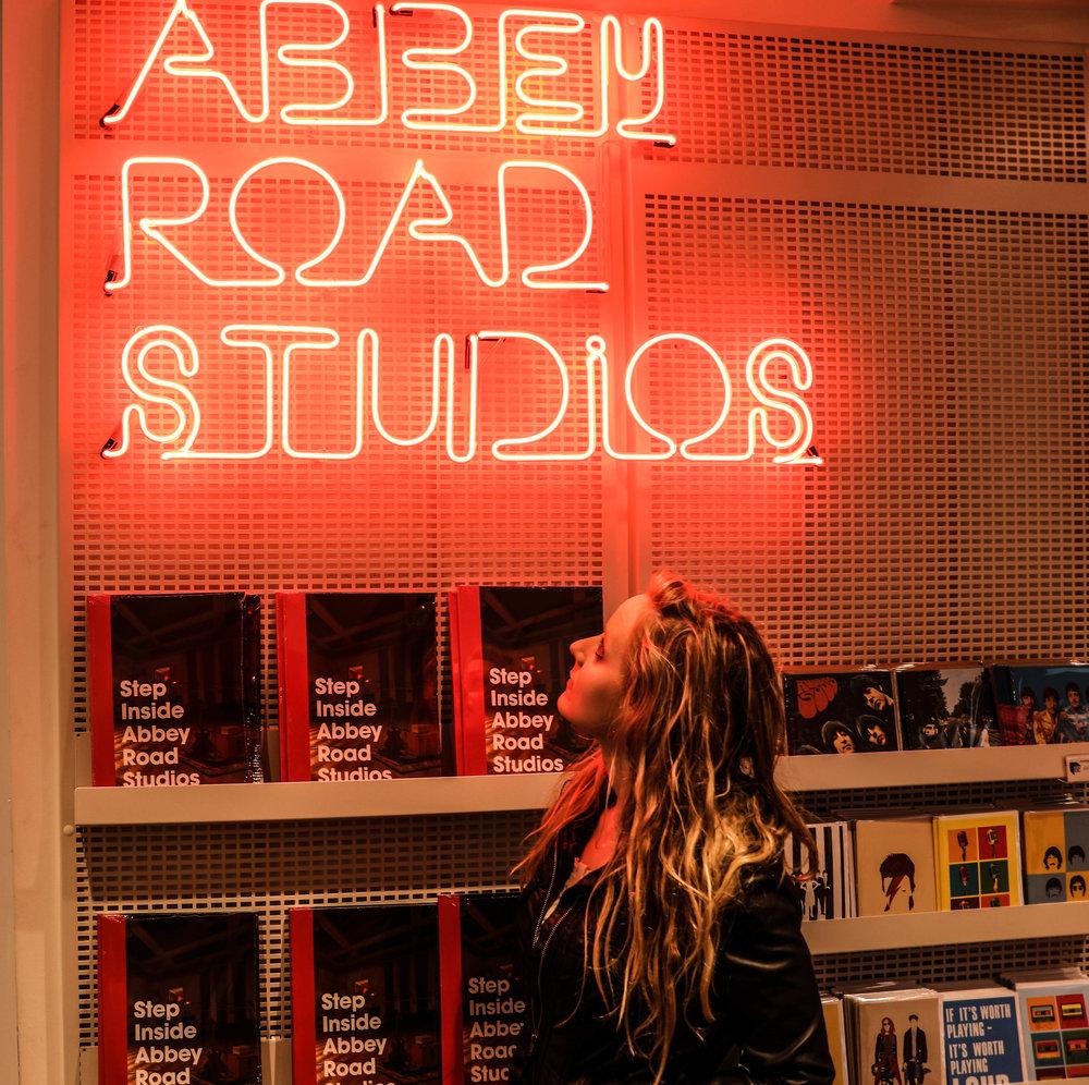 At Abbey Road Studios.