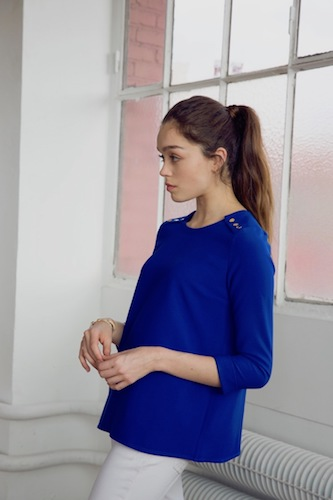 Mode éthique - L'atelier de Camille - Blouse brune encre .jpg