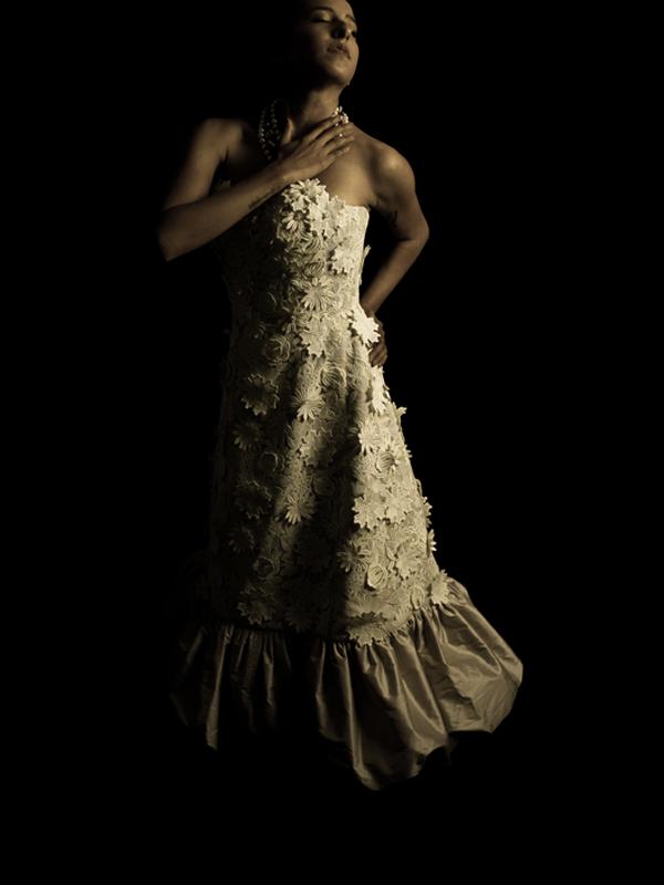 Jardin de Luxembourg Vintage Tea Length Wedding Dress