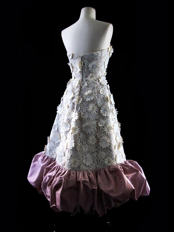 Jardin de Luxembourg Tea Length Wedding Gown