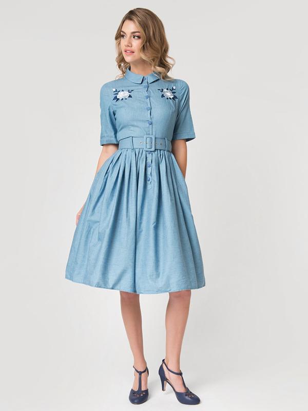 Tea length dress by Unique Vintage