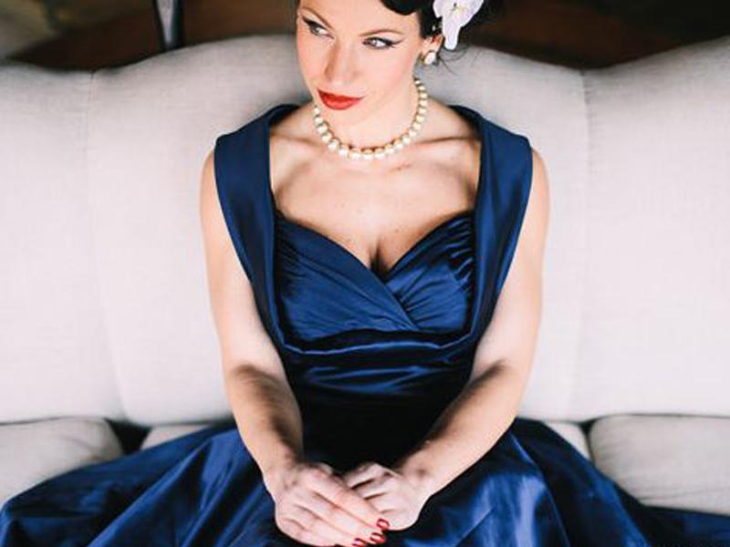 Tea length swing dress By Lady Mayra Clothing - Etsy