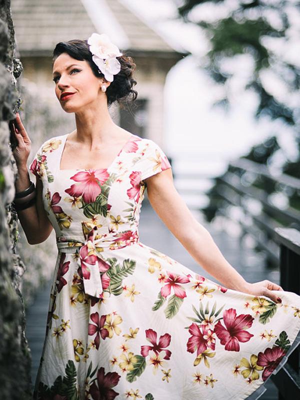 Tea length dress by Lady Mayra Clothing - Etsy