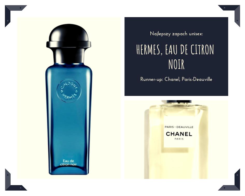 Najgenialniejsze cytrynowe otwarcie, które przechodzi w akord dymu, to nowy zapach w kolońskiej kolekcji Hermes. Paris-Deauville od Chanel to z kolei nieoczywisty świeżak, ozdobiony zielonością bazylii i podszyty paczulą. Jak spacer po letnim lesie!