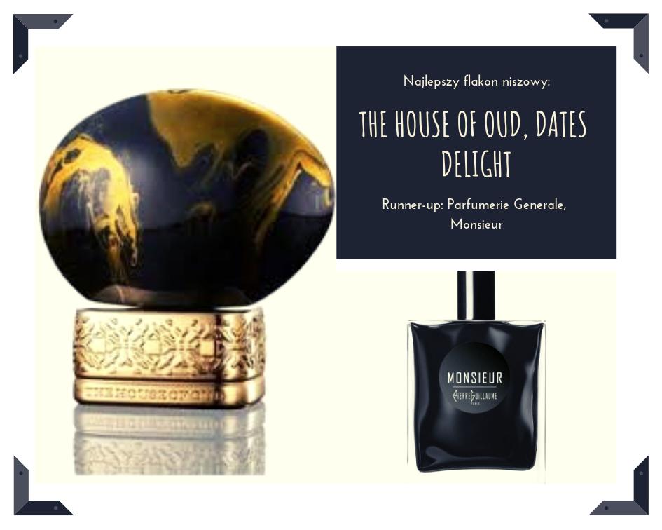 Z reguły nie lubię 'na bogato', ale flakony The House of Oud (Quality) są tak niezwykłe, że aż piękne. Szczególnie w tym odcieniu. To najpiękniejszy przycisk do papieru na moim biurku ever! Z kolei nowe flakony Parfumerie Generale Pierre Gillaume (Galilu) zachwyciły mnie swoją pofalowaną, lakierowaną czernią.