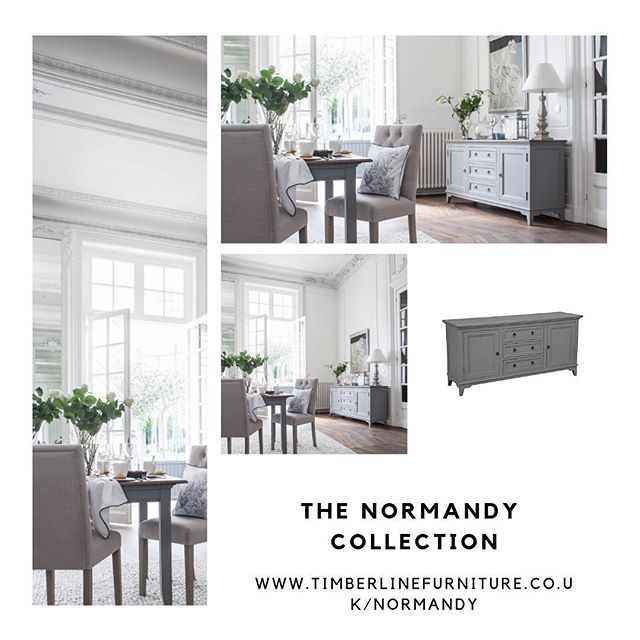 The Normandy Collection adds a rustic yet sleek look to your home. — View this collection on our website at: www.timberlinefurniture.co.uk/normandy