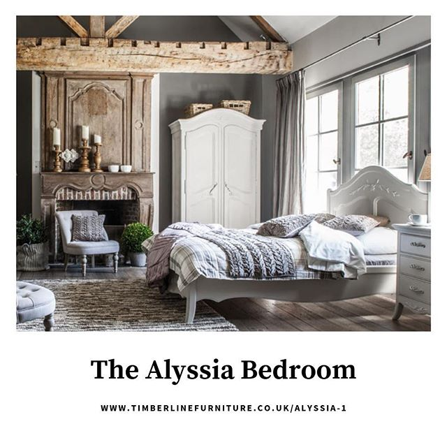 Happy Monday! . Check out one of our latest collections 'The Alyssia Bedroom' to add a Parisian feel to your bedroom. —————————————————— Www.timberlinefurniture.co.uk/alyssia-1