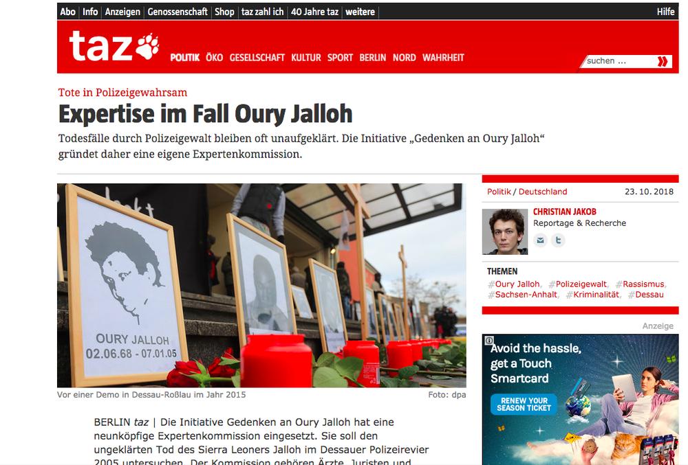 Die Tageszeitung23 Oct 2018 -
