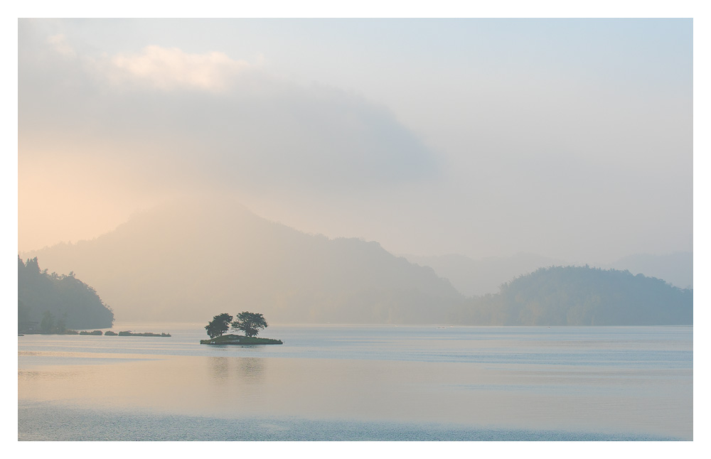 Sunrise at Sun Moon Lake
