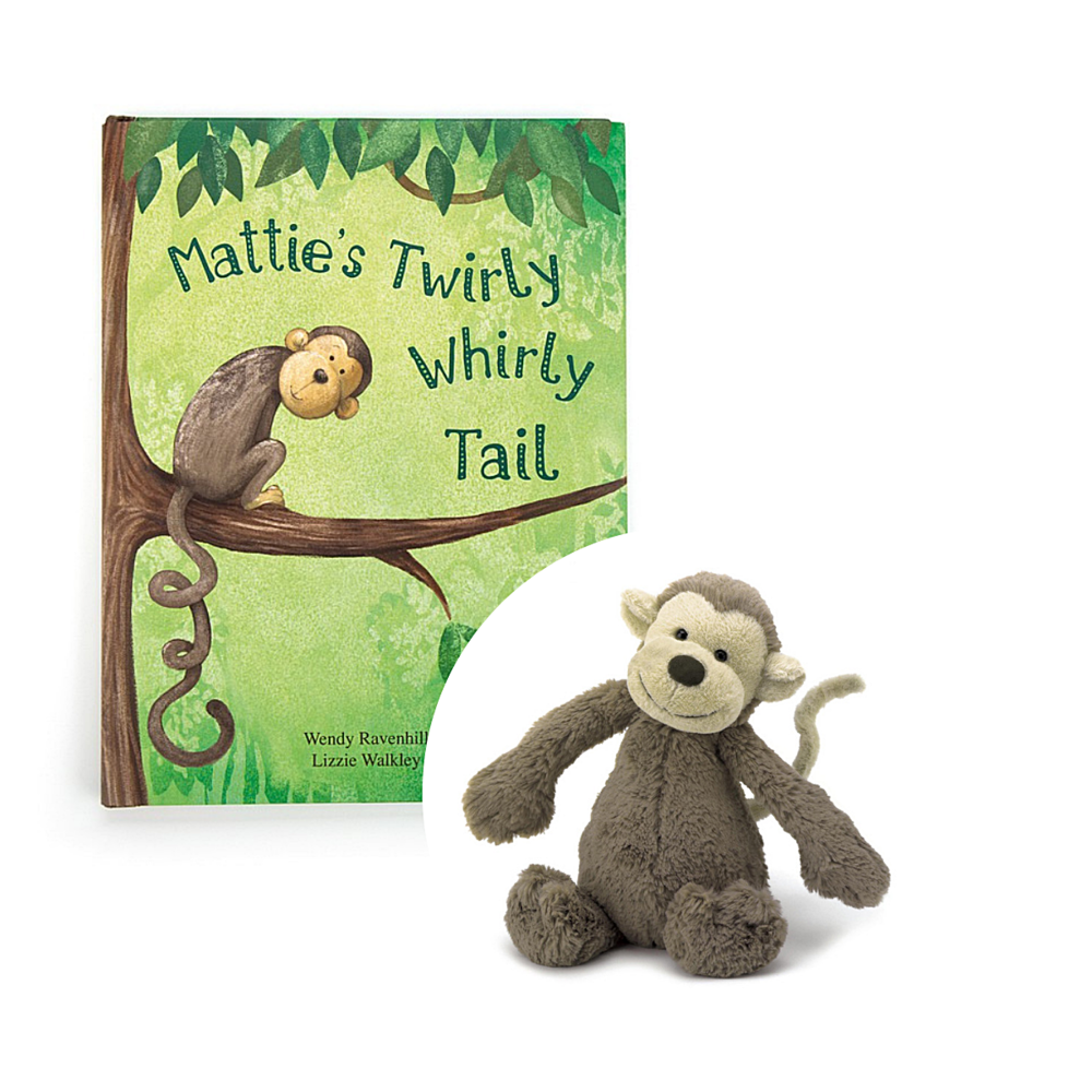 - Mattie's Twirly Whirly Tail Book is a wonderful story about being yourself. This gorgeously colourful poetry yarn features a very glum monkey indeed. Mattie doesn't like his tail because it's so twizzly, twirly and curly. How can his friends help him see how great he is? Peep inside to find out!