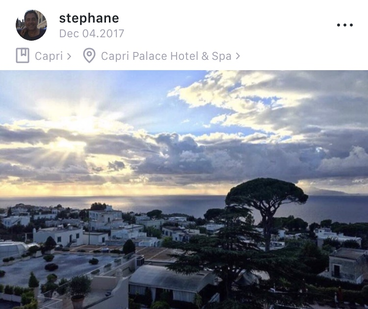 Capri, Italy  - A great view from the hotel is essential when in Capri. @stephane captured a great shot from the Capri Palace Hotel and Spa. Follow him on Jet Journal to see more from Capri and his other beach escapes.