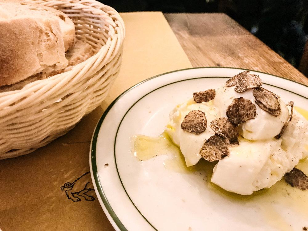 Truffle Burrata - @ osteria cinghiale