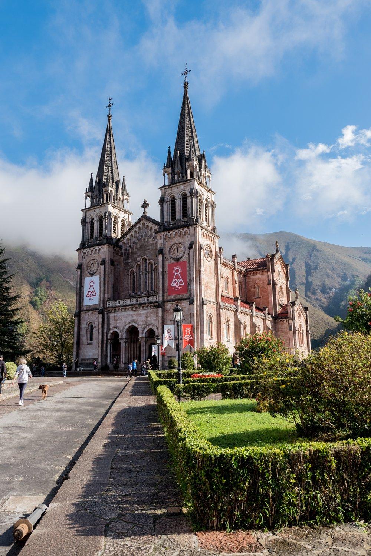 Basilica de Covadonga - On the way to the Picos de Europa