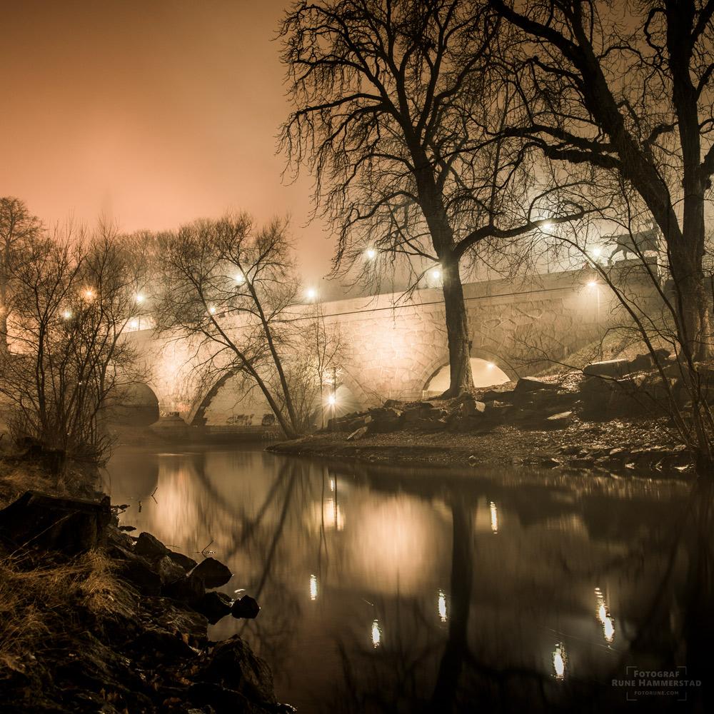 akerselva oslo ankerbrua bybilder natt