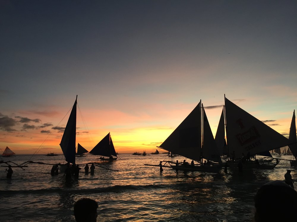 Sunset in Boracay, Philippines 2017