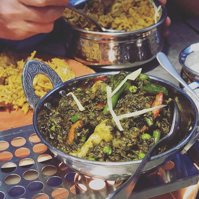 Hari Bhari Sabji - a lot of fun to say... but even more fun to devour! #frankfurt #vegetarian #ffm #indian #foodporn #amantandoor #delicious #nomnomnom #veggie