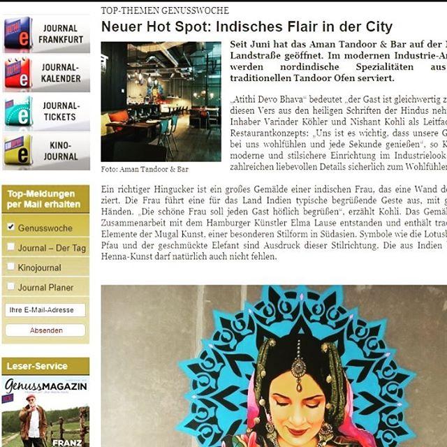 Vielen Dank für den tollen Artikel @journalfrankfurt SO EXCITED #feelthelove #frankfurt #ffm #indianfood #amantandoor #foodie #genussmagazin #foodporn