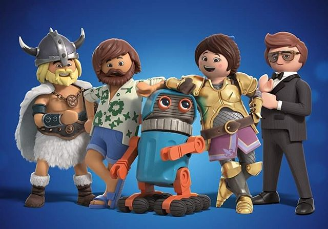 The Playmobil Movie Cast! Charlie, Del, Robotitron, Marla and Rex are coming to a theatre near you. Let me know if you want to come to the premiere party. #playmobilthemovie #playmobilfans