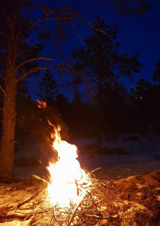 Vintersolverv ble feiret med bål.