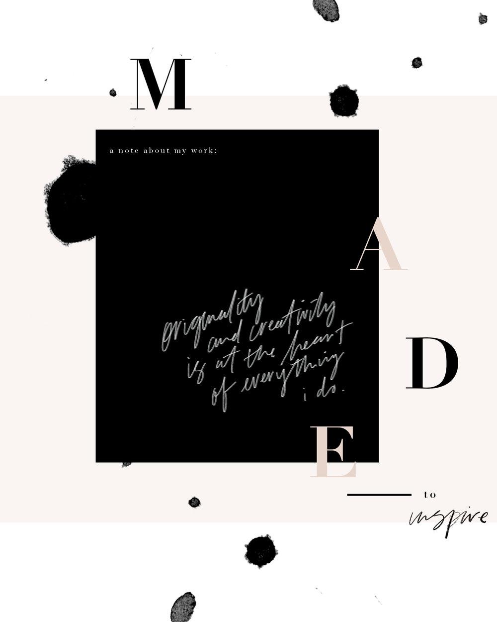 Made to inspire | @tatianasoash | tatiana soash