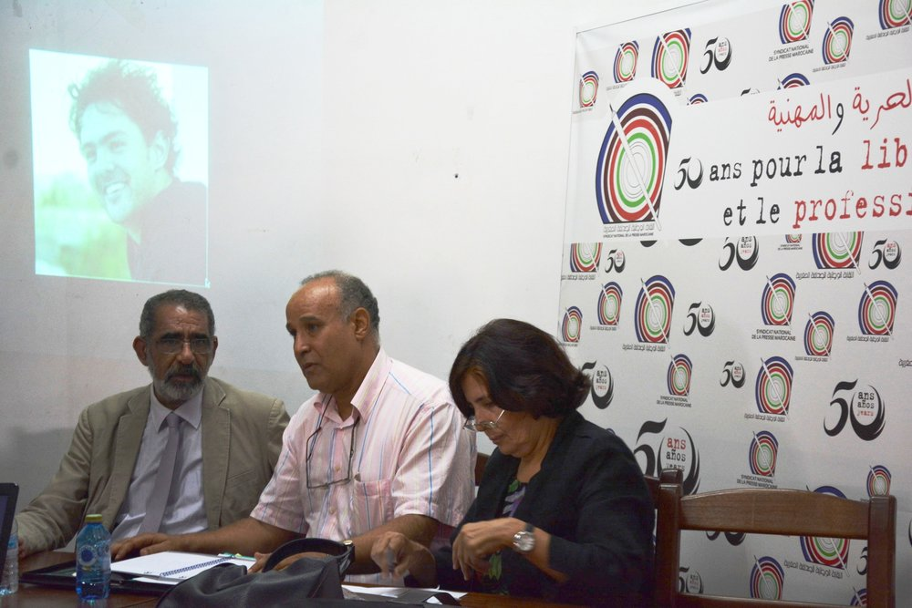 Representatives of the civil society at the September 2014 press conference