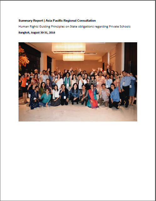 Summary Report: Asia Pacific Regional Consultation