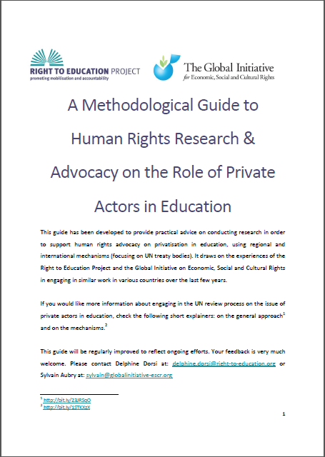 A Methodological Guide to Human Rights Research & Advocacy on the Role of Private Actors in Education