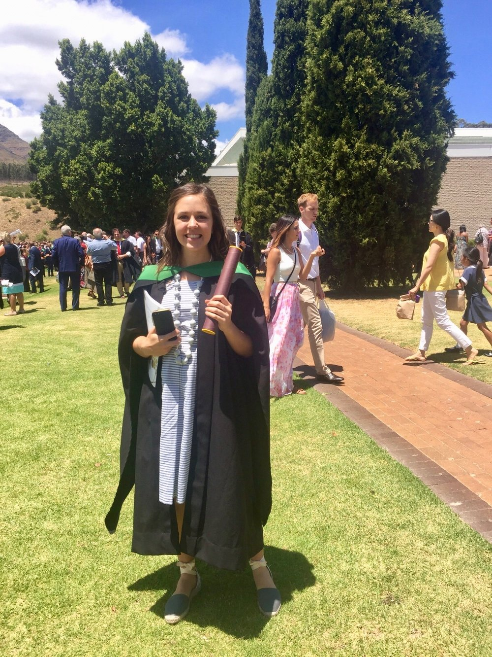 A newly graduated Kirstin, a qualified food scientist