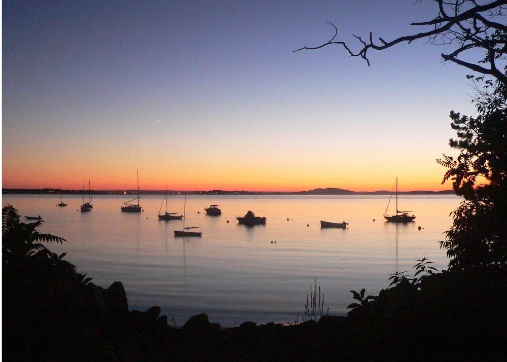 Twilight from the inner peninsula, near the Studio