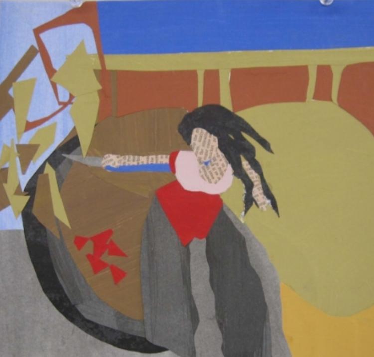 "Carmen's Last Stand - collage 10"" X 14"" (2014)"