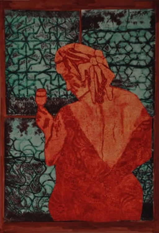 """Salud! - collagraph 18"""" X 30"""""""