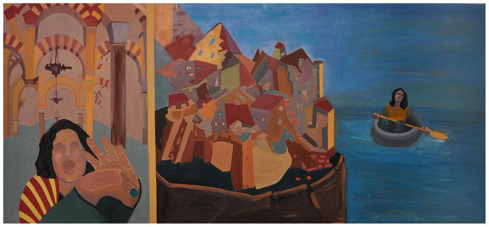 "She said - 46"" X 78"" oil on canvas (2016)"
