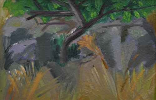"""Methow Valley - Oil on Canva paper, 5""""x 7"""""""