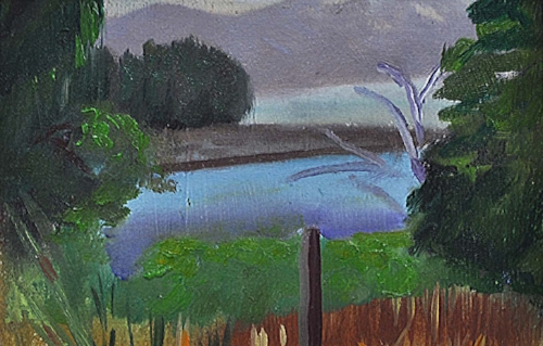 "British Columbia - Oil on Canva paper, 5""x 7"""