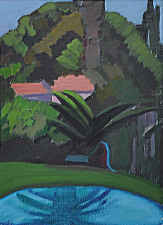 "The Palm - oil on canvas 9"" X 12"" (2014)"