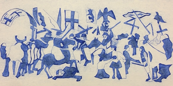 After Piero della Francesca Battle Between Heraclius and