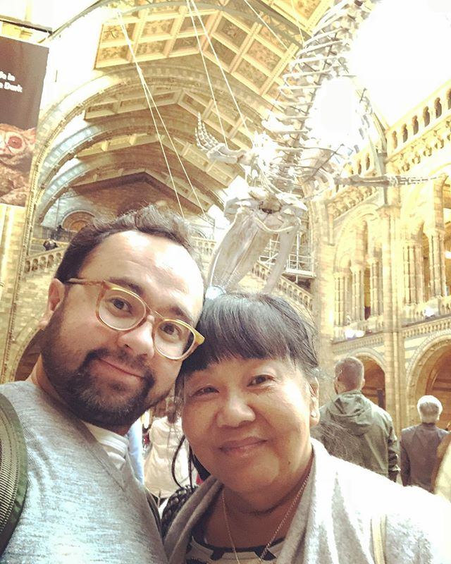 Family reunion today so we went to the @natural_history_museum and dinner at the @unionjackclub where a gin and tonic was £2.50! 👍🏻